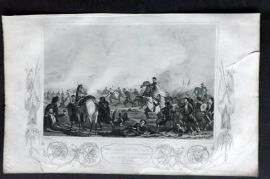 Tyrrell 1858 Crimea Print. Zouaves Advancing to the Assistance of the British